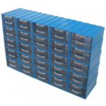 301 Şeffaf 2 Çekmeceli Kutu (Modüler Sistem) (En Ucuz 6,20 TL KDV Dahil)