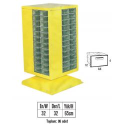 MT-102-96 Çekmeceli Döner Malzeme Dolabı (En Ucuz 580,00 TL KDV DAHİL)